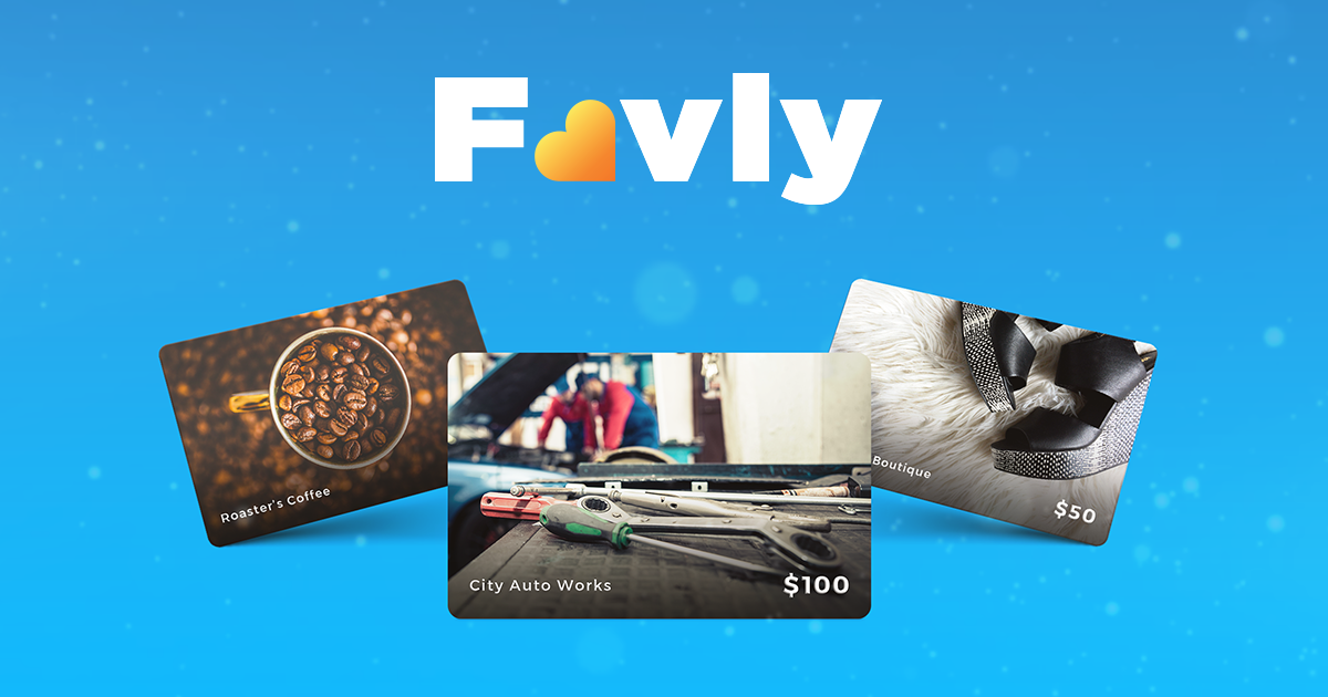 Create, Customize and Sell Your Own eGift Cards - Favly